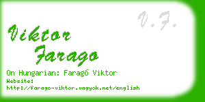 viktor farago business card